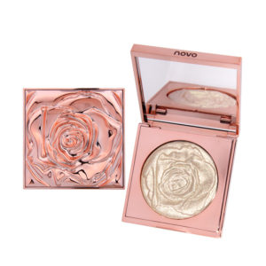 NOVO Highlighter Make Up Loose Powder Palette Vattentät pärla Vitguld Shimmer Glow Brightening Powder Highlighters Makeup Kits
