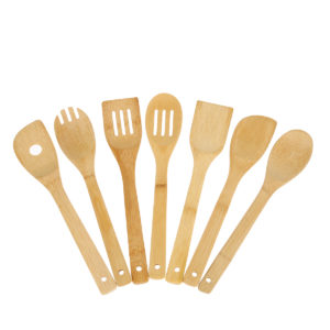 8PCS Bamboo Nonstick Cooking Utensils Wooden Spoons and Spatula Utensil Set