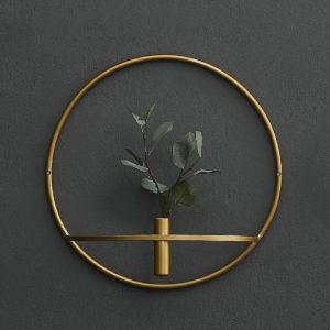 3D Geometric Wall Mounted Candle Holder Metal Tea Light Home Decor Candlestick