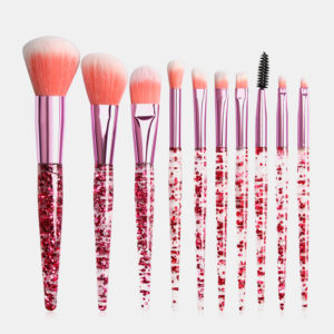10Pcs/Kit Makeup Brushes Kit Flash Diamond Drift Sand Makeup Brush Eyebrow Eyeshadow Brush