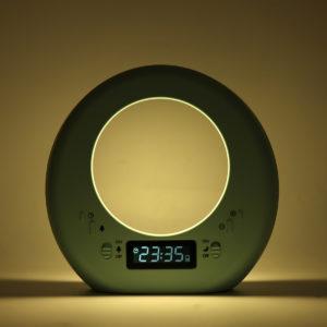 Multifunktionell Moon Bordslampa Nattlampa Display Tid Nyhet Belysning Vakna