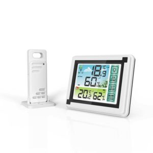 YUIHome WP6950 433MHz Indoor Outdoor Touch Screen Wireless Weather Station Color LCD HTN Display IPX4 Hygrometer Thermometer Outdoor Forecast Sensor Clock