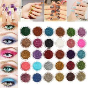 30 Colors Pro Makeup Glitter Powder Eyeshadow Pigment Eye Shadow Cosmetic Nail Art DIY