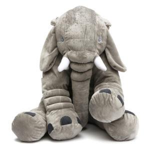 50x45cm grå stor elefant plysch fyllda kuddar kudde gåva sängkläder dekor ryggkuddar