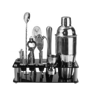 18st Cocktail Shaker Tillbehör Set Barware Bar Mixing Making Akryl Hållare