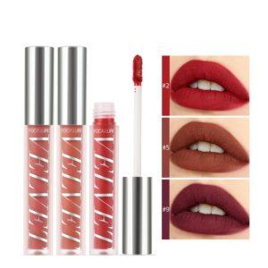 FOCALLURE 10 Colors Velvet Matte Lip Glaze Waterproof Non-Marking Lip Gloss Cosmetic