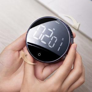 Baseus Magnetic Digital Timers Alarm Clock Mechanical Cooking Timer Alarm Counter Clock