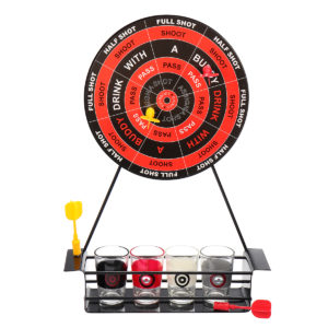 BT-500 Creative Mini Magnet Darts Toy Shot Set Party Entertainment Drinking Game with Glass Cu
