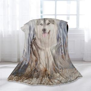 3D Print Husky Blanket Couch Quilt Fashion Cover Travel Child Bedding Velvet Plush Throw Fleece Blanket