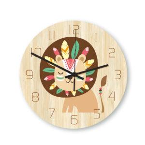 CC029 Creative Lion Pattern Wall Clock Mute Wall Clock Quartz Wall Clock For Home Office Decorations