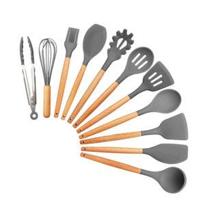 11Pcs Edible Silicone Non-stick Kitchen Utensils Set Cooking Spatula Gadget Tool