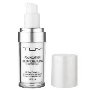30 ml TLM Color Changing Liquid Foundation Makeup Ändra din hudton genom att bara blanda Liquid Cover Concealer