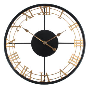 Iron Round Art Wall Clock Kreativ europeisk stilklocka för hem vardagsrum Vägghängande dekoration