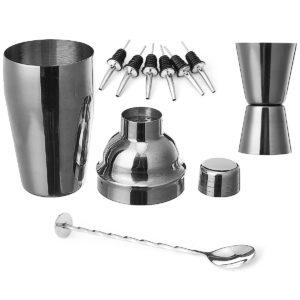 9st 500ML Cocktail Shaker Set Maker Mixer Martini Spirits Bar Bartender Kit
