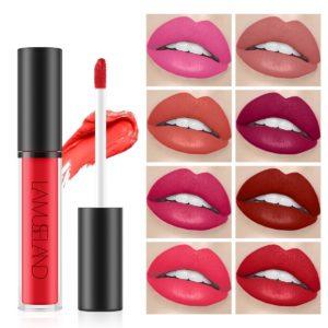LAMUSELAND 12 Color  Velvet Long-lasting Waterproof Non-stick Cup Lip Gloss Non-stick Cup Moisturizing Liquid Lipstick TSLM1