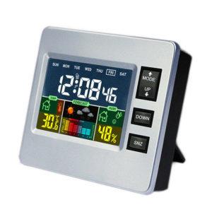 DC-07 digital temperaturhygrometer väckarklocka Kalender Snooze med bakgrundsbelyst funktion