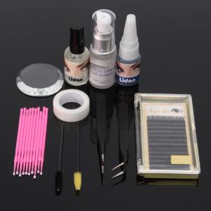 11st Eyelash Extension Set Individual Pincet Lim Eye Lash Brush Mascara Applicator Makeup Case