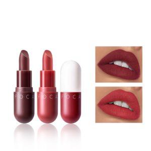 FOCALLURE 8 Colors Matte Lipstick Long-lasting Moisturizing Non-Fade Lip Makeup