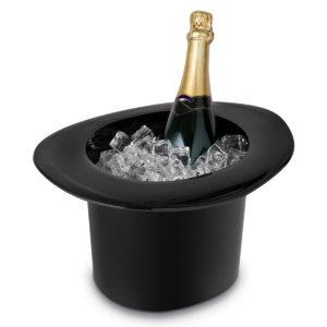 1.2L Acrylic Top Hat Cap Shaped Ice Bucket Fruit Juice Alcohol Drinking Bottle Cooler Kitchen Storage Bucket