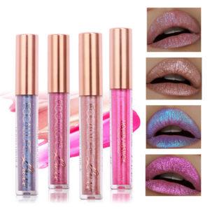 FOCALLURE 6 Colors Metallic Matte Lip Gloss Liquid Diamond Glitter Lipsticks Cosmetics Makeup