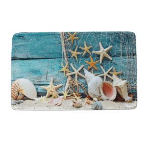 60*90cm Starfish Non-Slip Floor Kitchen Bath Door Carpet Bathroom Mat Rug Pad