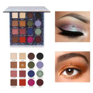 IMAGIC Professional Shimmer Matte Eyeshadow Palette 16 Colors Natural Eye Shadow Waterproof Lasting Pressed Cosmetic