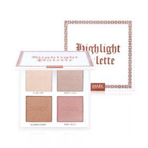 MAGIC Highlighter Powder Palette Shimmer Face Contouring Highlight Face Bronzer Makeup 4 färger Highlighter Brighten Skin
